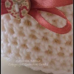 Newborn Crochet Beanie.